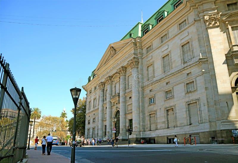 Imponująco Neoklasyczny budynek bank Argentyński naród, Buenos Aires, Argentyna obrazy stock
