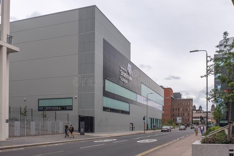 Imponująco nowożytny architektury lookingThistle Uliczny Glasgow uniwersytet Strathclyde budynki w centrum miasta fotografia stock