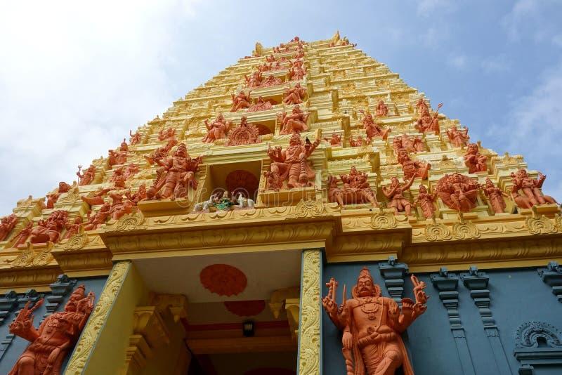 Imponująco Tamilska świątynia w Północnym Sri Lanka zdjęcie royalty free