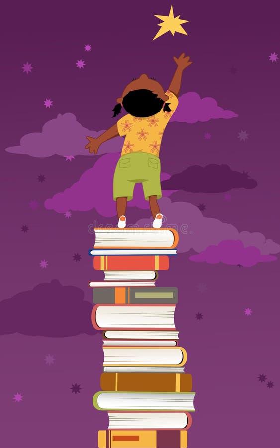 Importância da leitura para o desenvolvimento de crianças ilustração do vetor