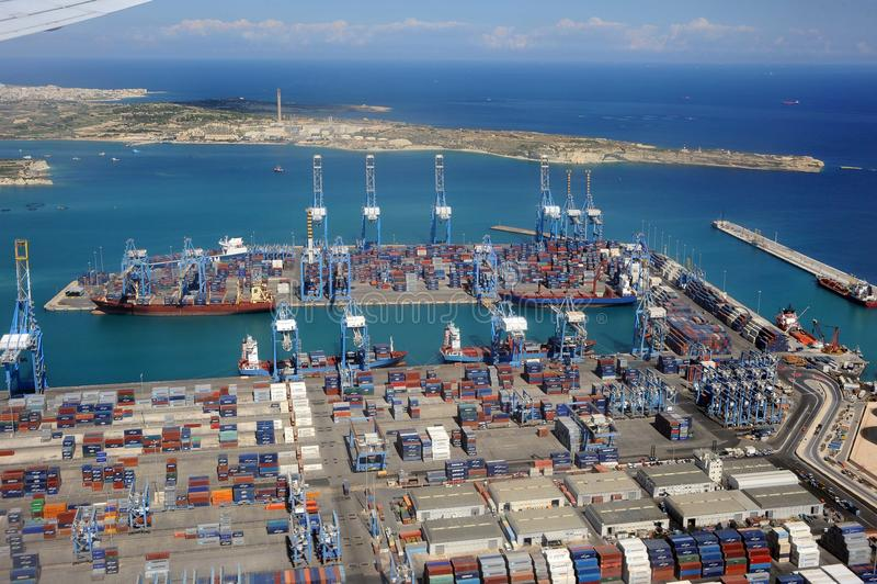Import Export Port And Dockyard Editorial Stock Photo