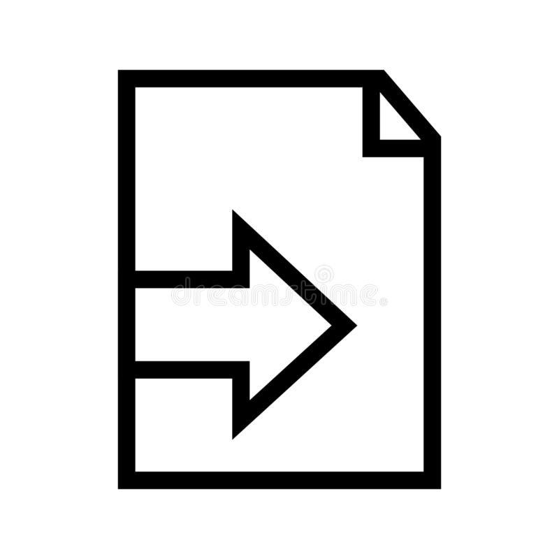 Import File to This Document Computer Icon stock illustration