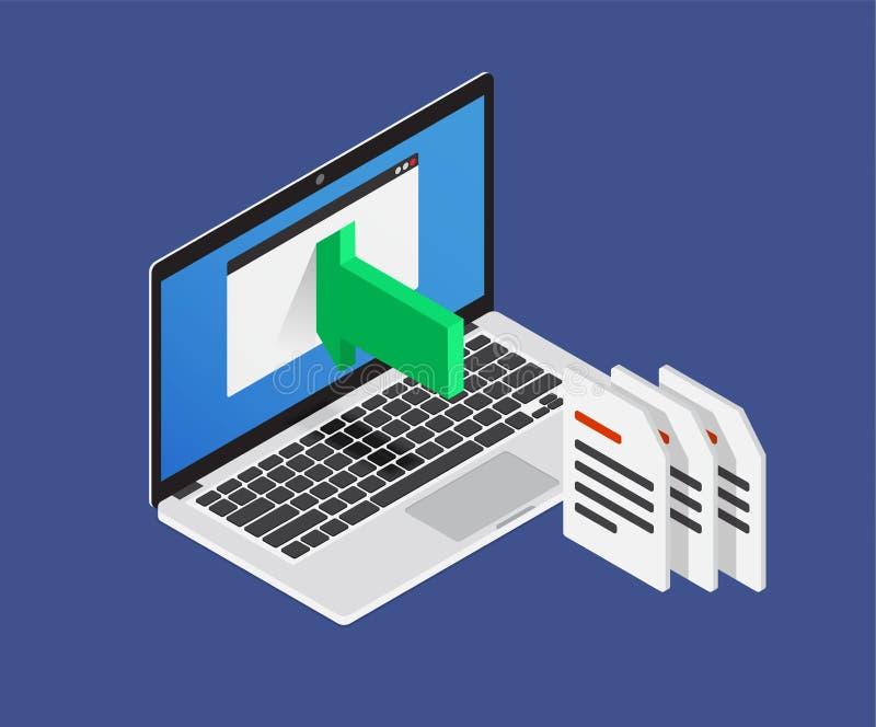 Import-Produkte Speichern Sie Produktaktualisierung Auch im corel abgehobenen Betrag lizenzfreie abbildung