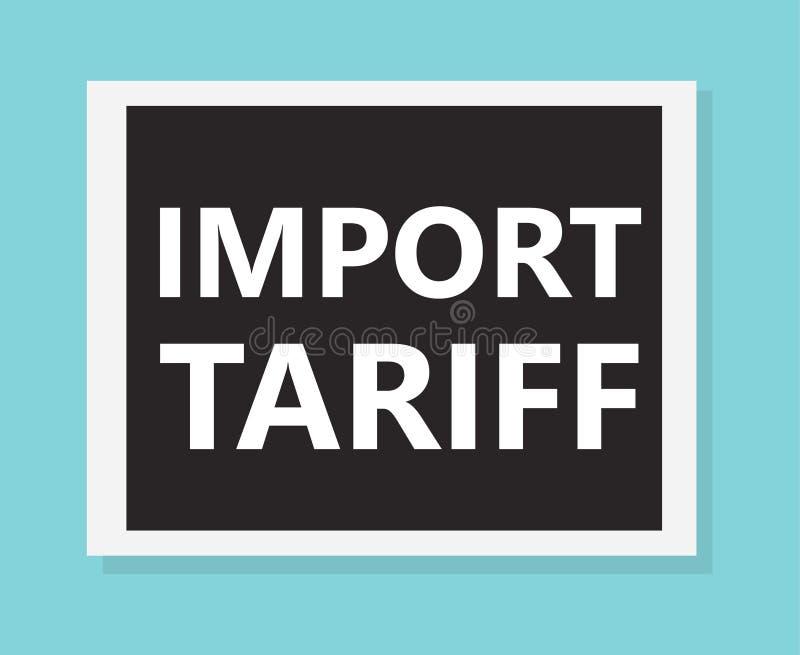 Import tariff concept. Vector illustration royalty free illustration
