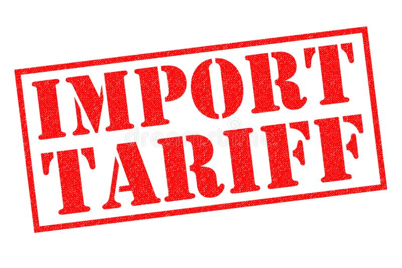 IMPORT TARIFF Rubber Stamp. IMPORT TARIFF red Rubber Stamp over a white background vector illustration