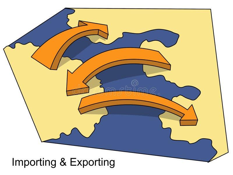 Import und Export stock abbildung