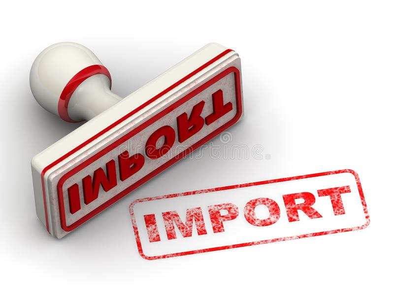 import Verbinding en afdruk stock illustratie