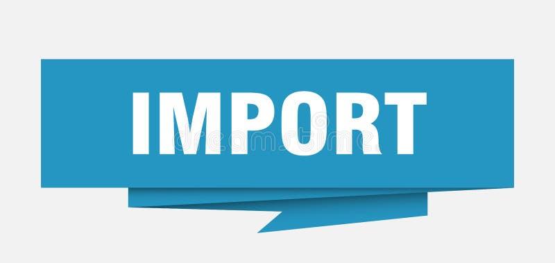 importação ilustração do vetor