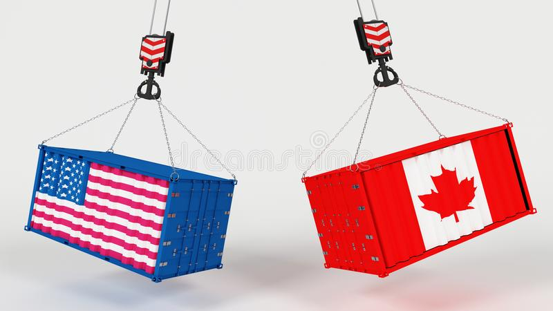 Importação de E.U. Tarrifs ilustração royalty free