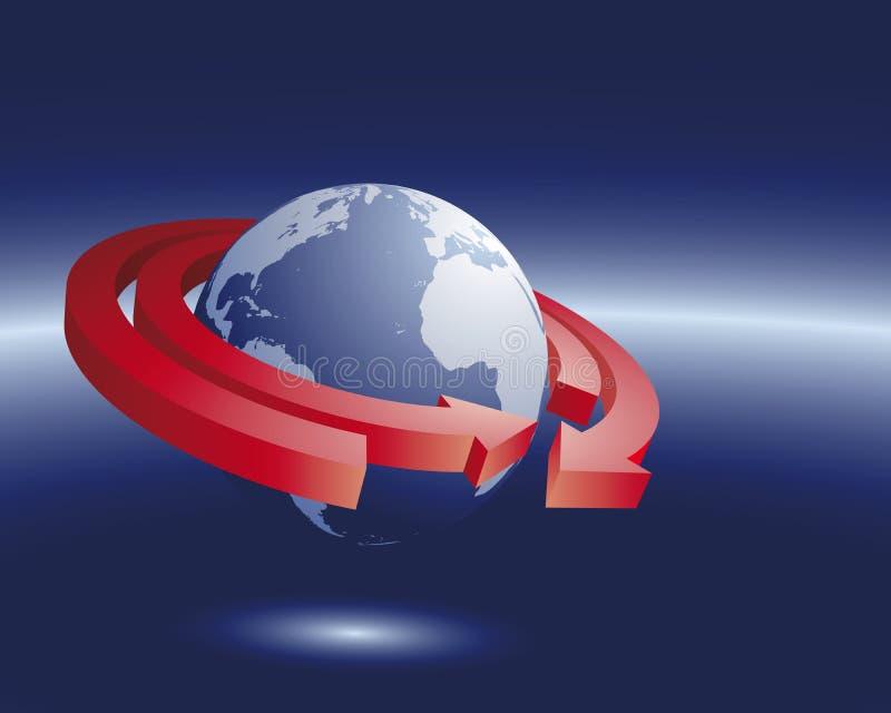 Importação e exportação ilustração do vetor