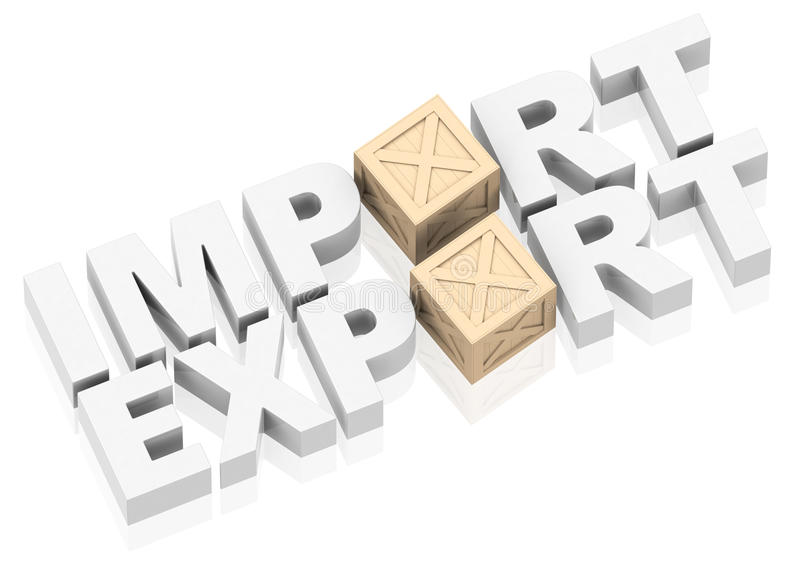 Importação e exportação ilustração royalty free