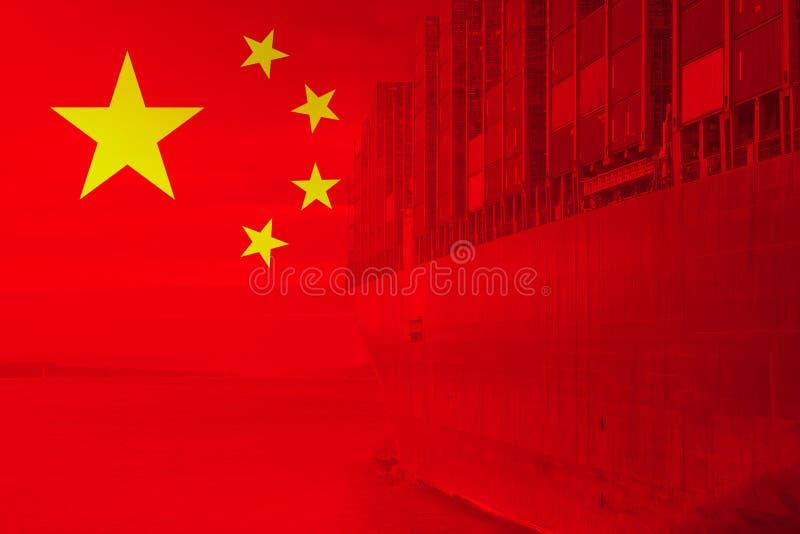 Importación de la exportación de China del contenedor para mercancías imagen de archivo libre de regalías