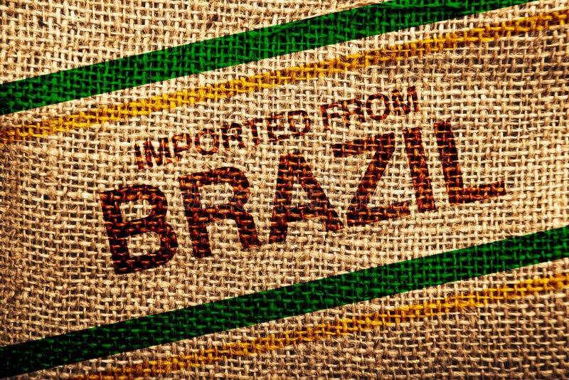 Importado del Brasil imagenes de archivo