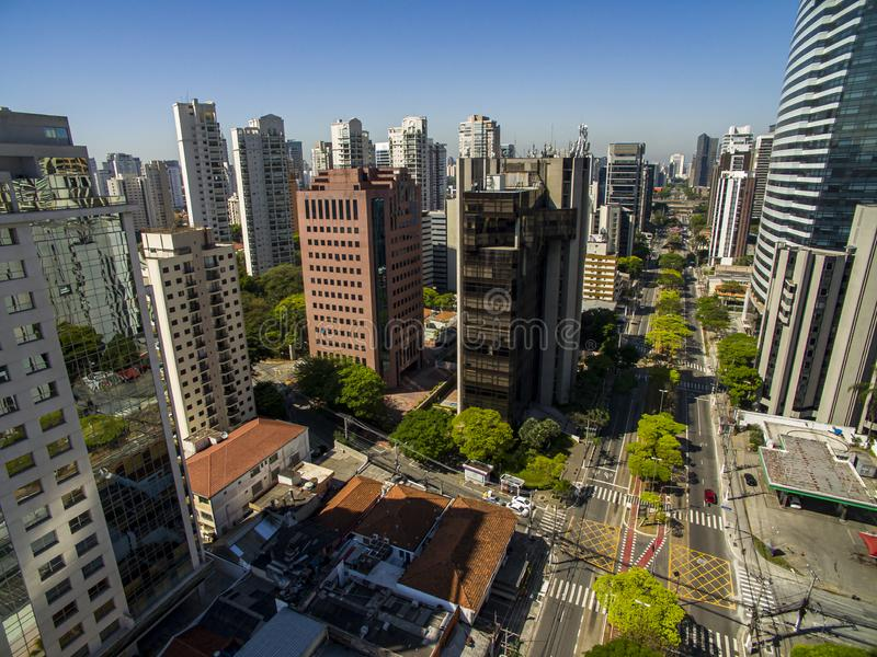 Important cities of the world. Important avenues of the world. Sao Paulo city. Sao Paulo state, Brazil South America stock photography