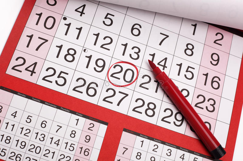 Download Important date stock photo. Image of circle, deadline - 27285632