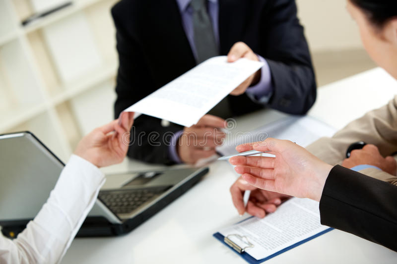 Important document stock images