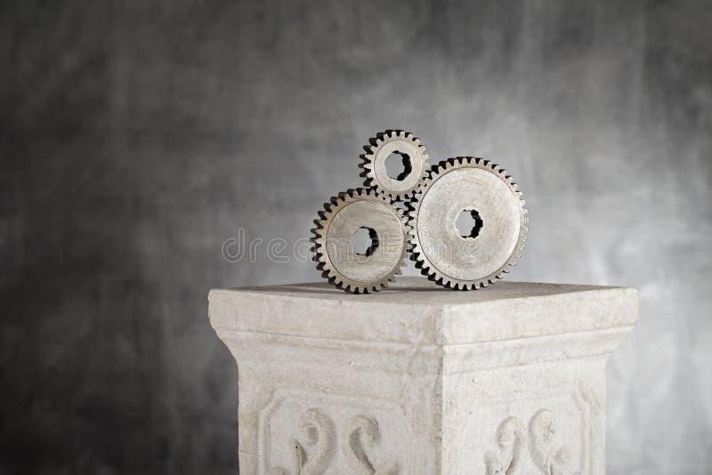 Download Important Gears stock photo. Image of three, metallic - 24714804