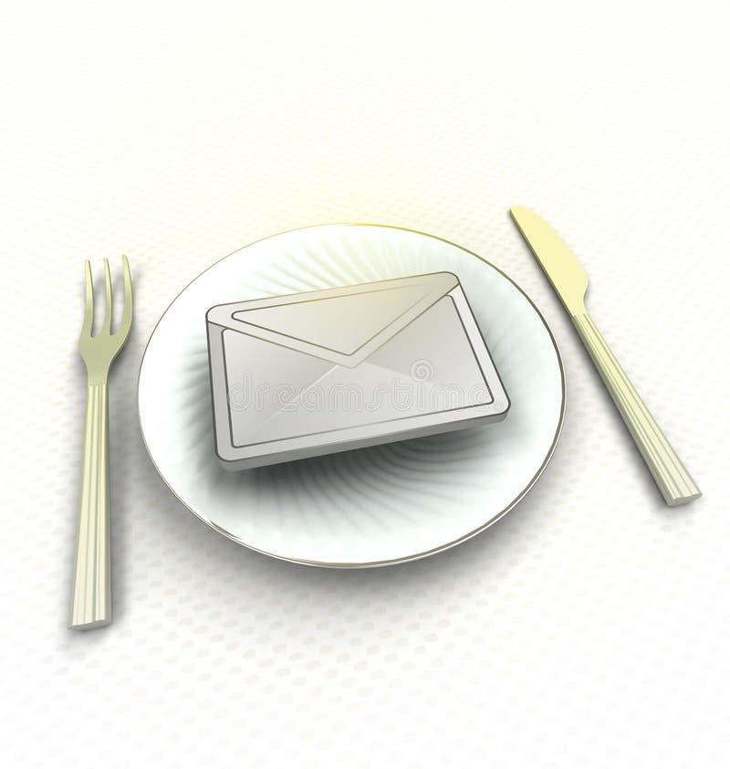 Important message on the plate render. Illustration vector illustration