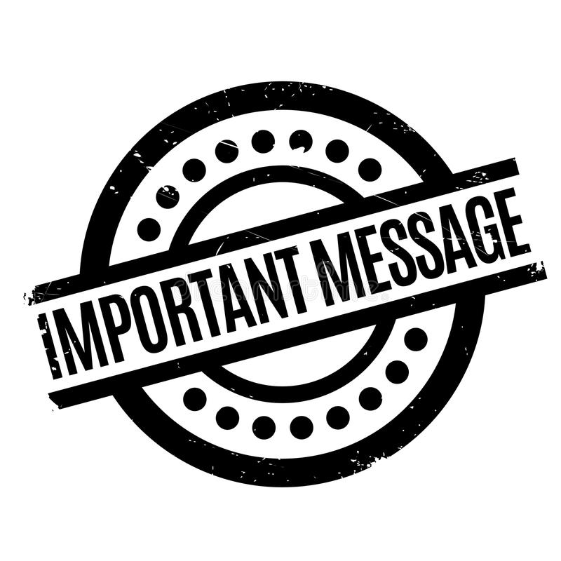Important Message rubber stamp. Grunge design with dust scratches. Effects can be easily removed for a clean, crisp look. Color is easily changed vector illustration