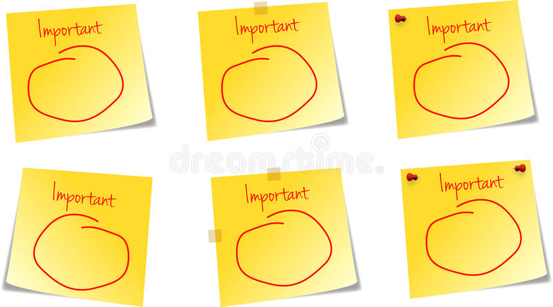 Download Important Note stock vector. Image of four, colorful - 21814804