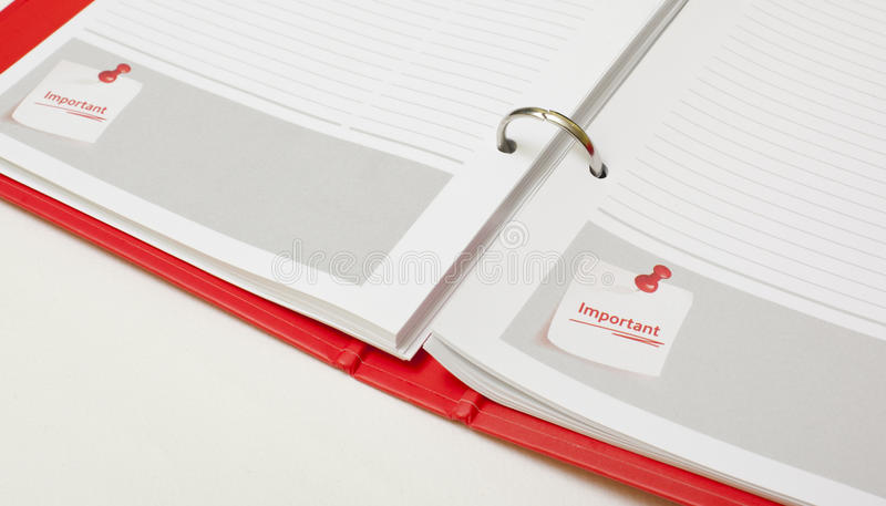 Download Important note agenda stock photo. Image of date, important - 28602972
