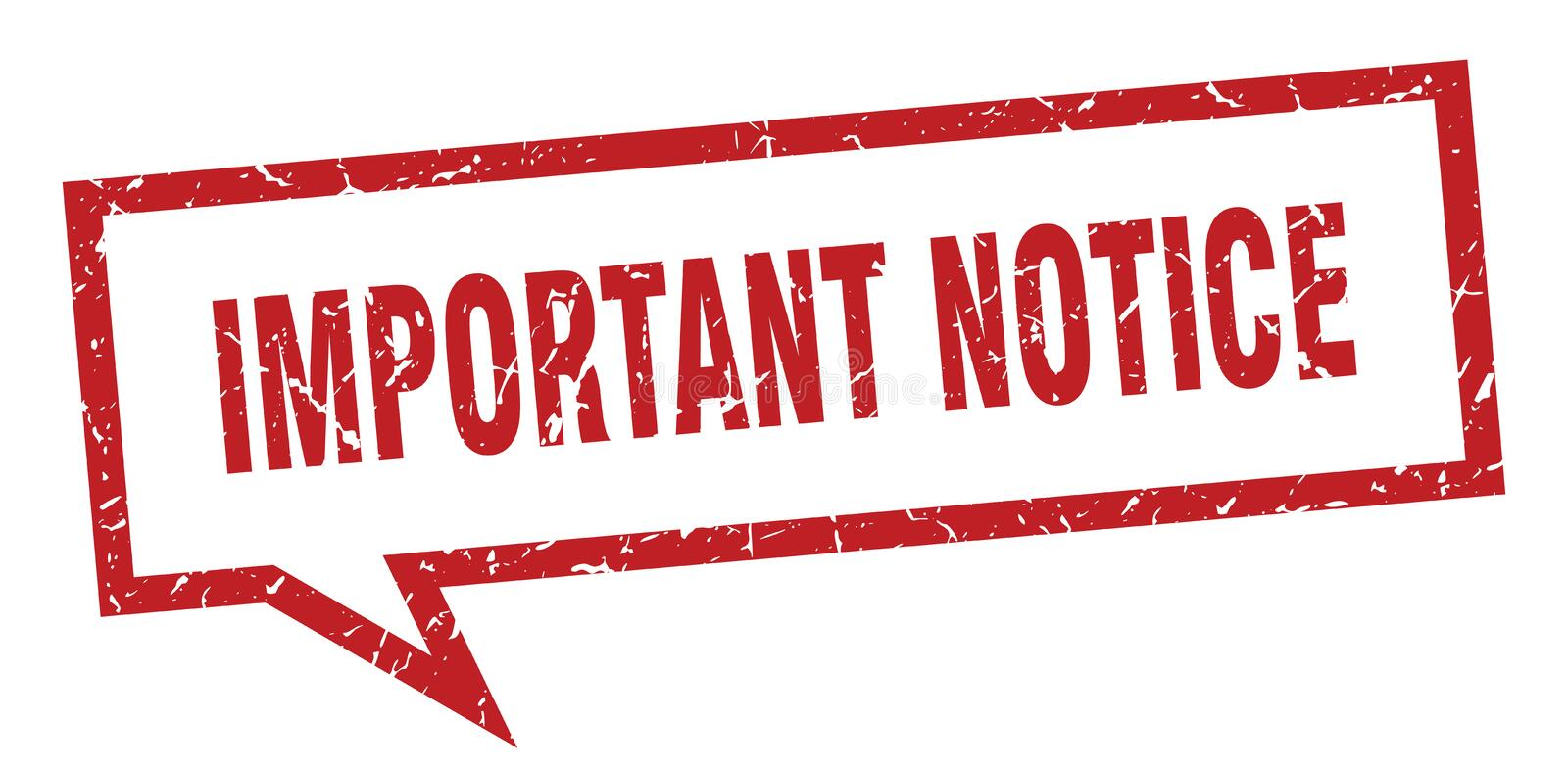 Important notice speech bubble. Important notice isolated sign.  important notice royalty free illustration