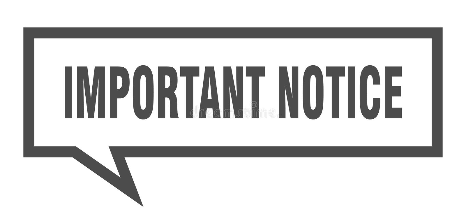 Important notice speech bubble. Important notice isolated sign.  important notice vector illustration