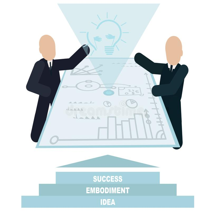 Important partnerships in business color vector illustration. stock illustration