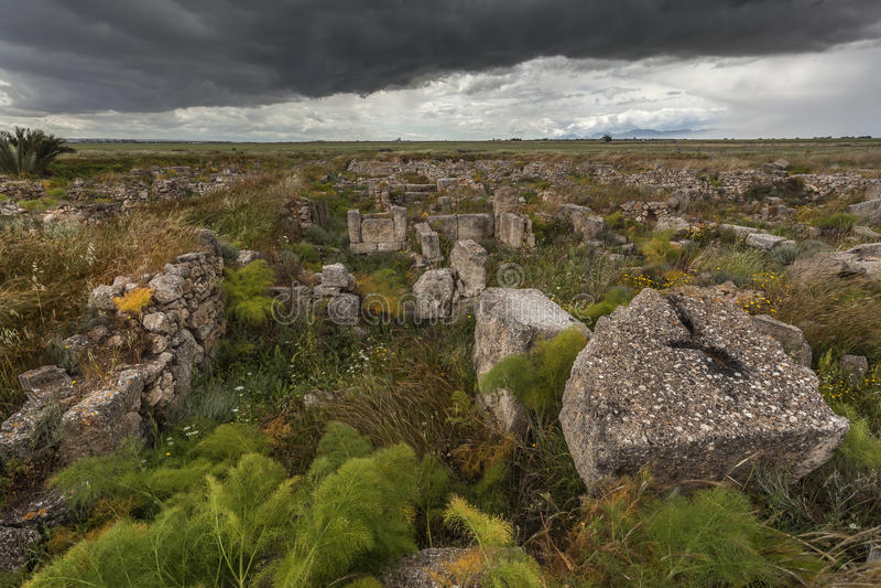 Important prehistoric site Enkomi, Cyprus royalty free stock photography