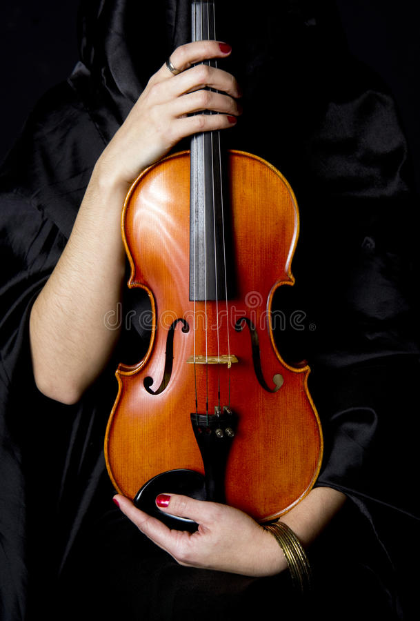 Download Important Violin Held By Caring Woman Stock Photo - Image: 23096250