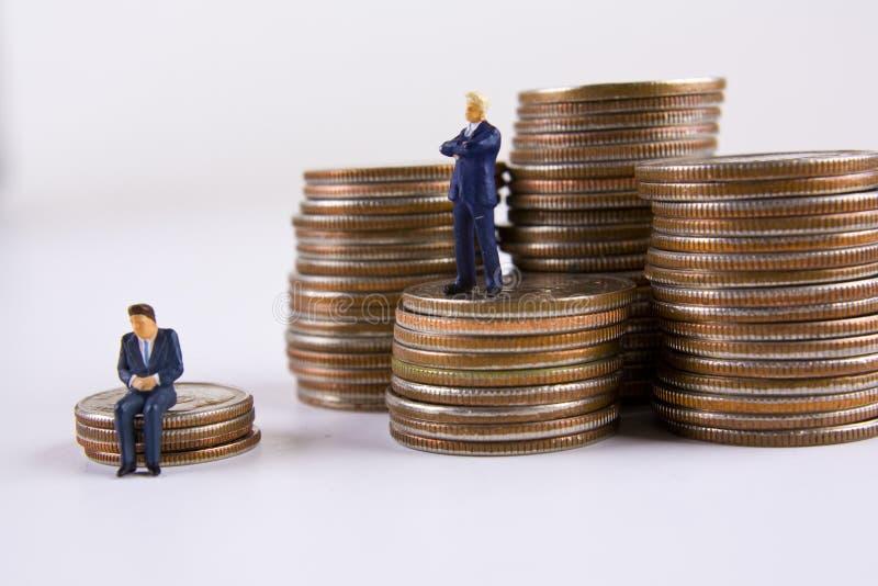Importantes affaires contre la petite entreprise image stock
