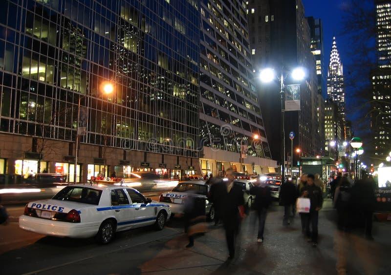 Importantes mesures de sécurité sur la rue de New York photographie stock
