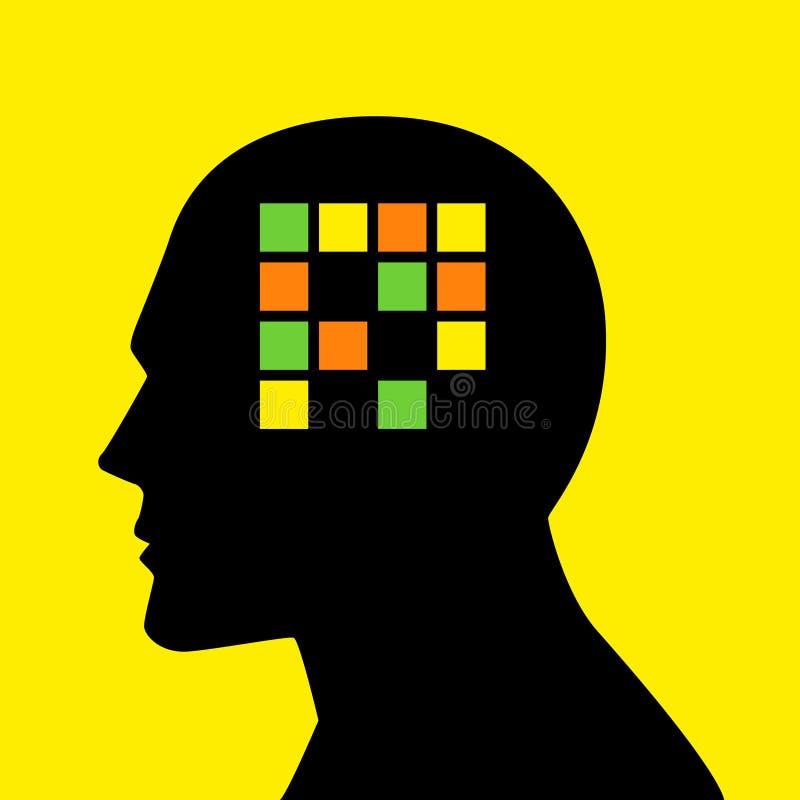 Importe del gráfico del concepto para la pérdida o la amnesia de memoria stock de ilustración