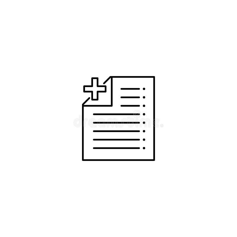 Importe um ícone de documento ilustração royalty free