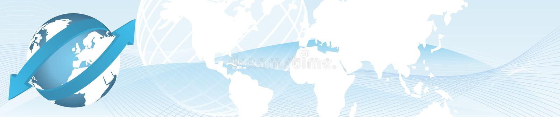 Importowy eksportowy sztandar royalty ilustracja