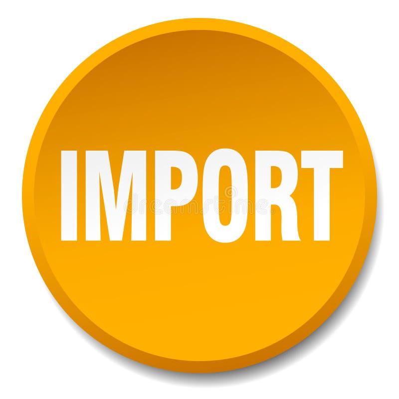 importowy guzik ilustracja wektor