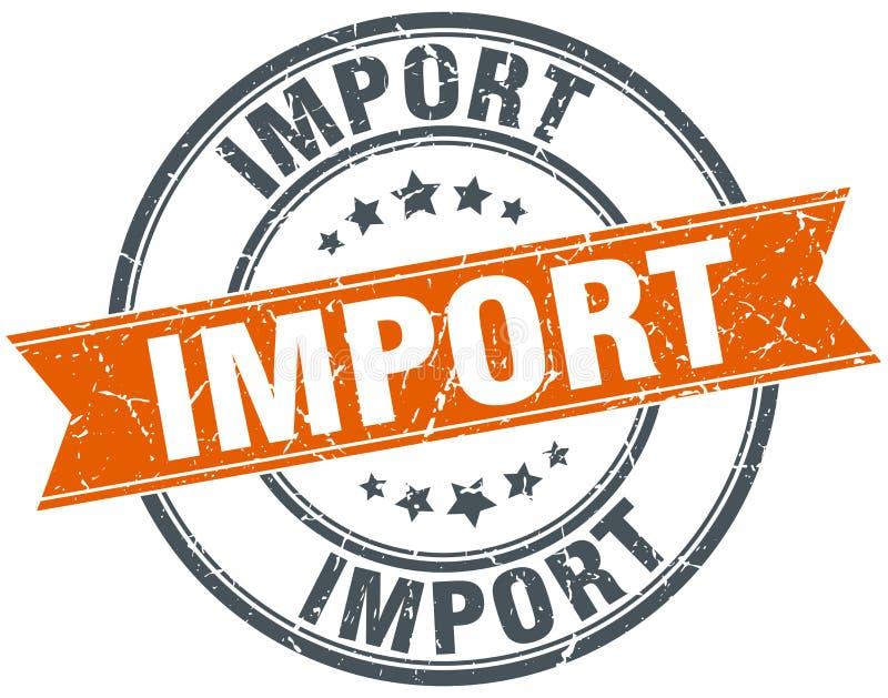 Importowy znaczek ilustracja wektor