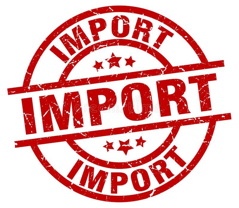 Importowy znaczek royalty ilustracja