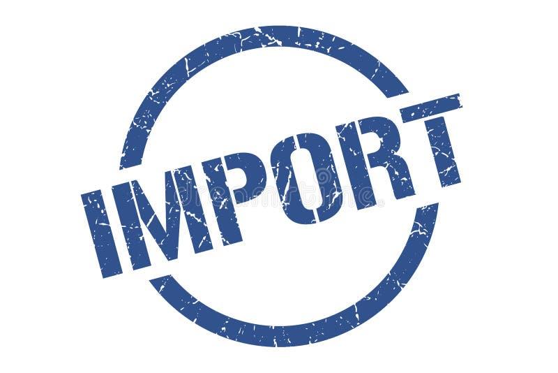 Importowy znaczek ilustracji