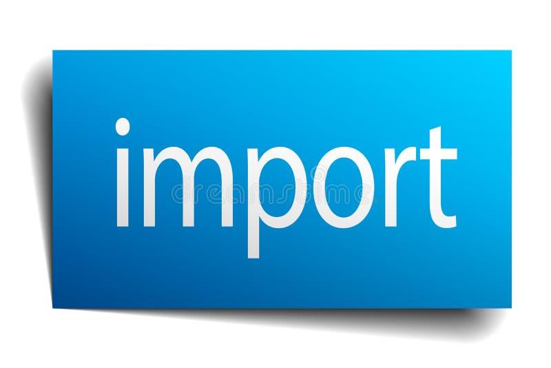 importowy znak ilustracja wektor