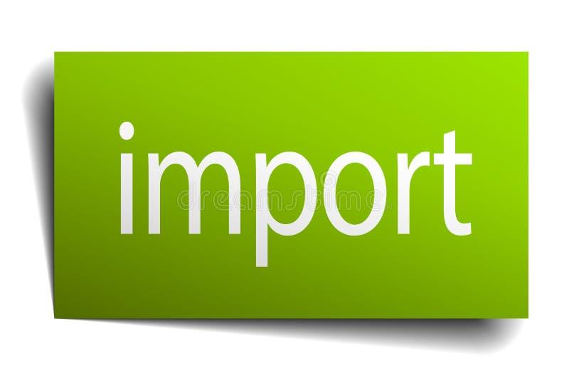 importowy znak royalty ilustracja