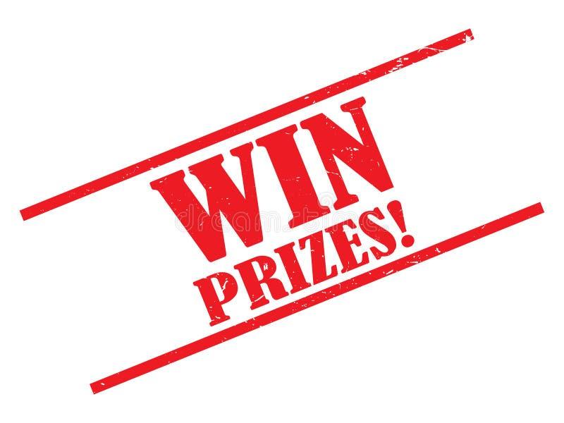 Win prizes stamp royalty free illustration