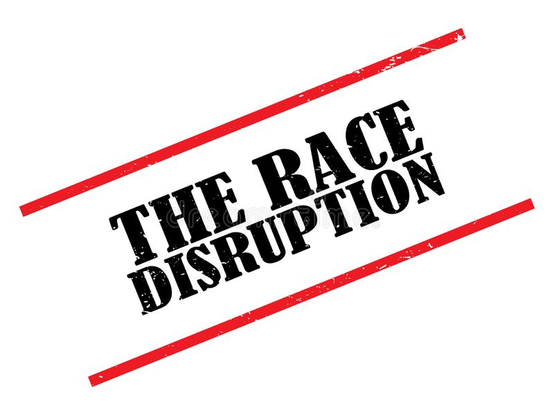 The race disruption stamp royalty free illustration