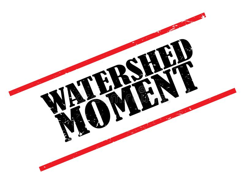 Watershed moment stamp royalty free illustration