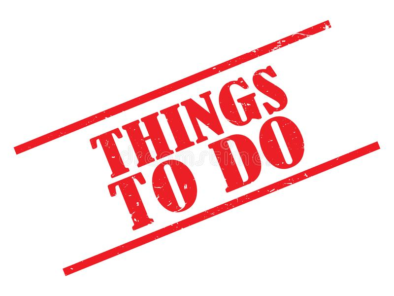 Things to do stamp royalty free illustration