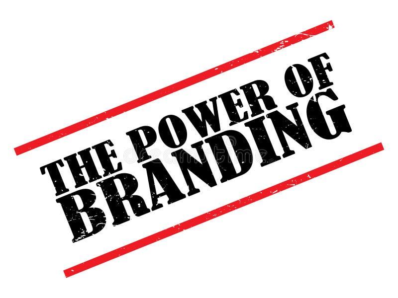 The power of branding stamp stock illustration