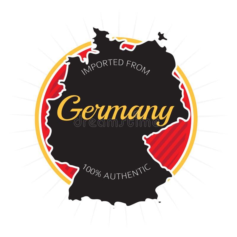 Importujący od Niemcy etykietki royalty ilustracja