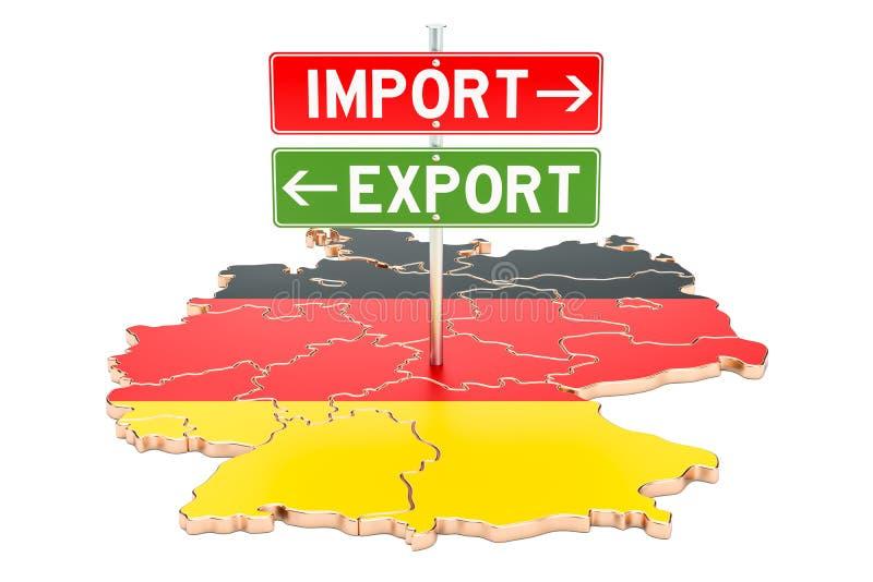Importuje i eksportuje w Niemcy pojęciu, 3D rendering ilustracji