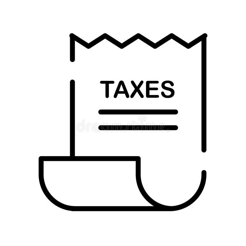 Imposez le vecteur d'icône d'isolement sur le fond blanc, signe d'impôts, rayez sy illustration libre de droits