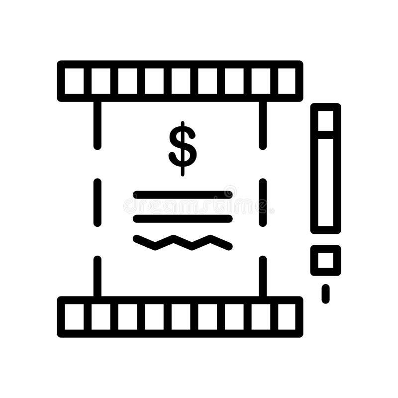 Imposez le vecteur d'icône d'isolement sur le fond blanc, signe d'impôts, rayez sy illustration stock